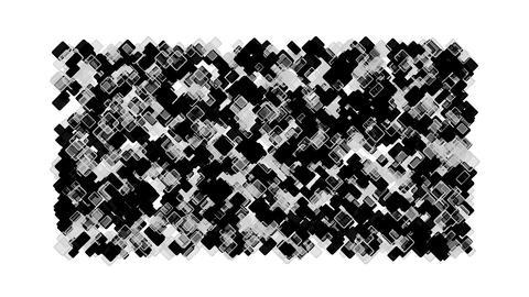 black square block mosaics,computer chip board,math geometry Stock Video Footage