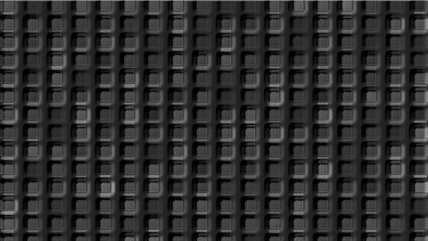 gray cement square grid & block brick matrix wall Stock Video Footage