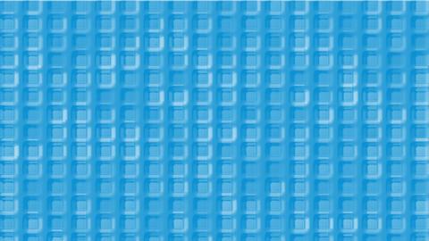 blue plastic square grid & block brick matrix wall Stock Video Footage