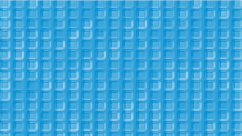 blue plastic square grid & block brick matrix wall Animation