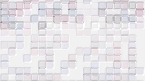 color transparent plastic square mosaics & block... Stock Video Footage