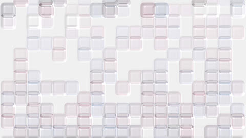 color transparent plastic square mosaics & block... Stock Video Footage