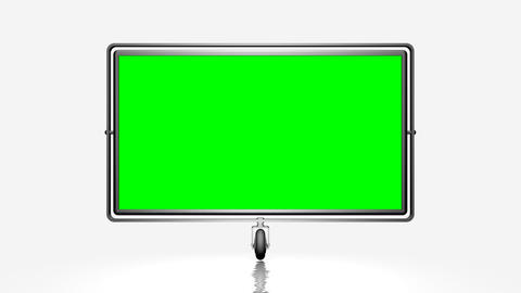 Green screen (alpha) on the wheel. Against a white Stock Video Footage