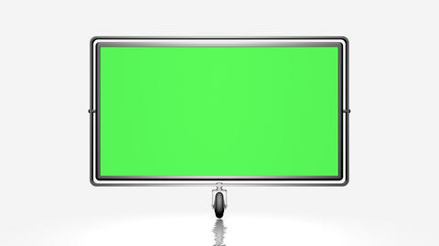 Green Screen (alpha) On The Wheel. Against A White stock footage