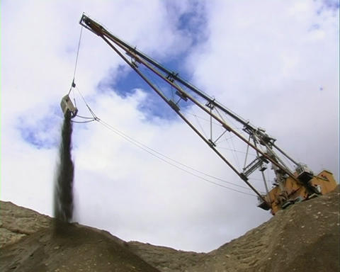 Truck and excavator 7 29 P Stock Video Footage
