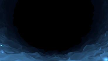 Walk Through Ice Cave POV Background Stock Video Footage