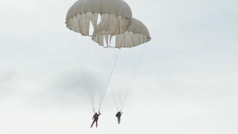 Extreme Ultra Low Altitude Parachute Jump stock footage