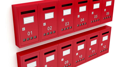 Red mailboxes Animation