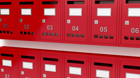 Red mailboxes Stock Video Footage