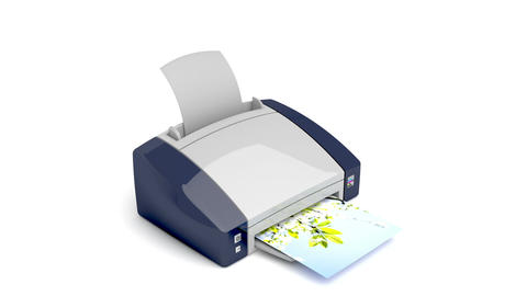 Color printer Animation