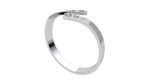 Platinum ring with diamonds Stock Video Footage