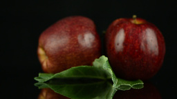 Red apples with water drops Stock Video Footage