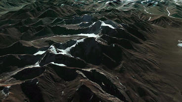 flying on top of snow mountain plateau Stock Video Footage