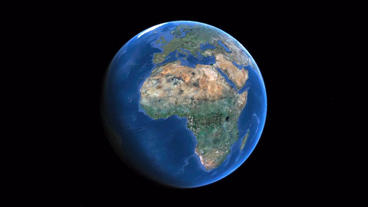 Rotation earth in universe,African continent Stock Video Footage