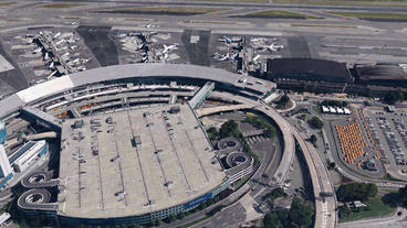 aerial view of NewYork airport Stock Video Footage