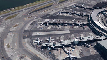 aerial view of NewYork airport Animation