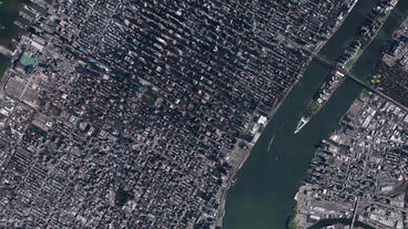 aerial view of New york Manhattan,spectacular city landscape Stock Video Footage