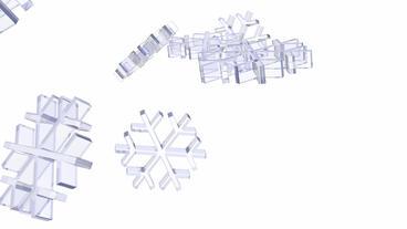 transparent snowflake falling Stock Video Footage