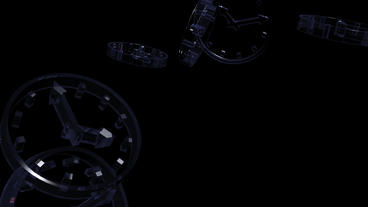 transparent glass clock Animation