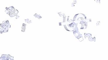 transparent glass dollar sign Stock Video Footage