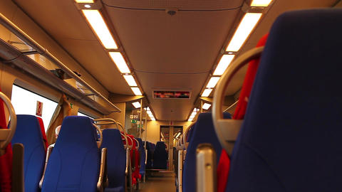 Inside High Speed Train Stock Video Footage