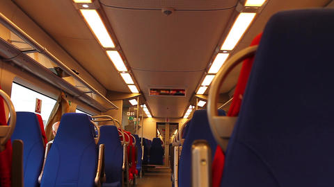 Inside High Speed Train stock footage