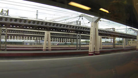 traveling by train Stock Video Footage