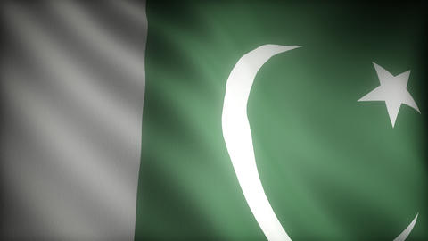 Flag of Pakistan Stock Video Footage