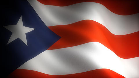 Flag of Puerto Rico Stock Video Footage
