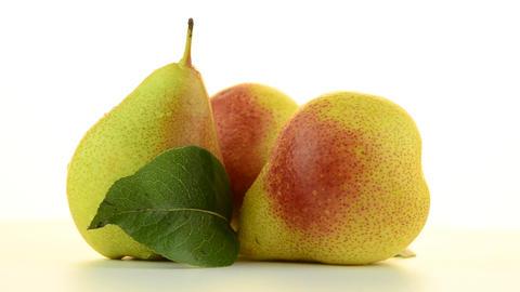 Three pears Stock Video Footage