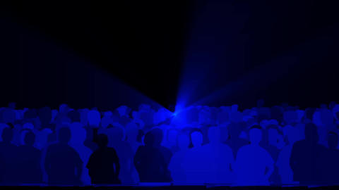 cheering crowd,dance people & dazzling blue music… Stock Video Footage