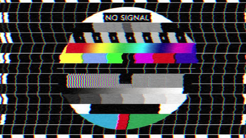 Bad TV - I - Static Noise & Sound Stock Video Footage