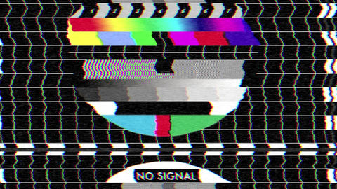 Bad TV - III - Rolling Noise & Sound Stock Video Footage