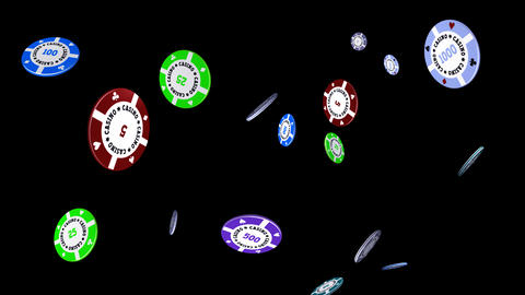 Casino Chips - Falling Loop II Animation