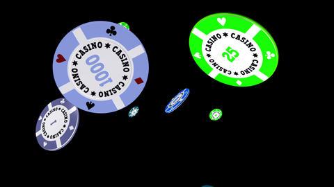 Casino Chips - Falling Loop II Stock Video Footage