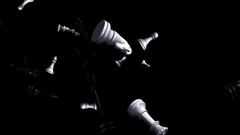 Chess Flying Loop II Stock Video Footage