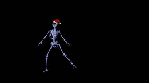 Skeleton Santa Dancer I Stock Video Footage