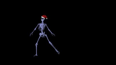 Skeleton Santa Dancer I Stock Video Footage