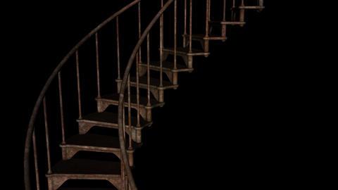 Stairway To Hell - Loop + Alpha Stock Video Footage