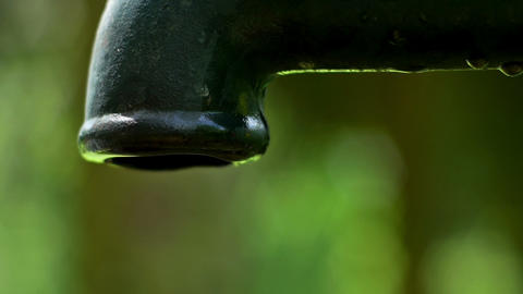 Stream of water from the pump Stock Video Footage