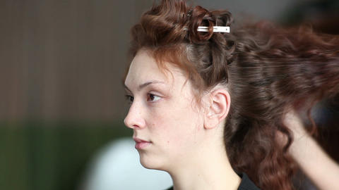 Hairstyle Stock Video Footage