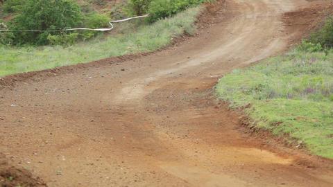 Rally car. Dangerous turn Stock Video Footage