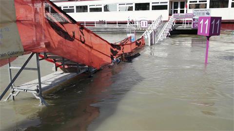 2013 Flood Budapest Hungary 2 Stock Video Footage