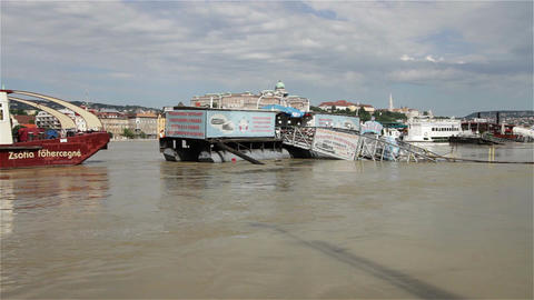 2013 Flood Budapest Hungary 4 Stock Video Footage
