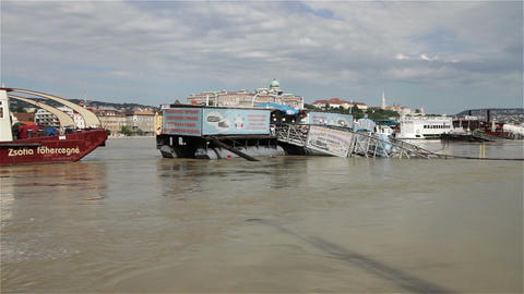 2013 Flood Budapest Hungary 4 Stock Video Footage