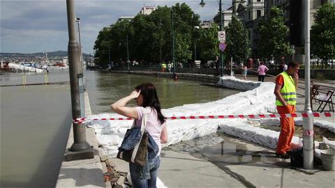 2013 Flood Budapest Hungary 6 Footage