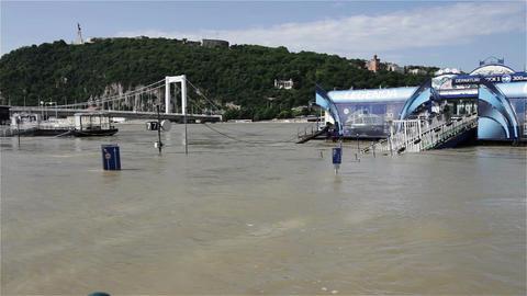 2013 Flood Budapest Hungary 10 Stock Video Footage