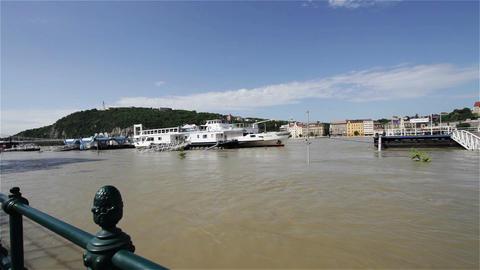 2013 Flood Budapest Hungary 12 Stock Video Footage