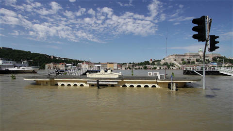 2013 Flood Budapest Hungary 18 Stock Video Footage