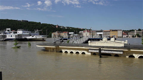 2013 Flood Budapest Hungary 20 Stock Video Footage